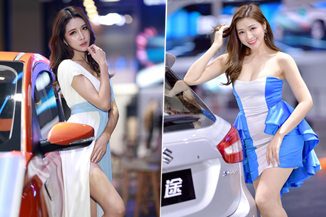 广州车展|这些车模小姐姐要一个人偷偷看