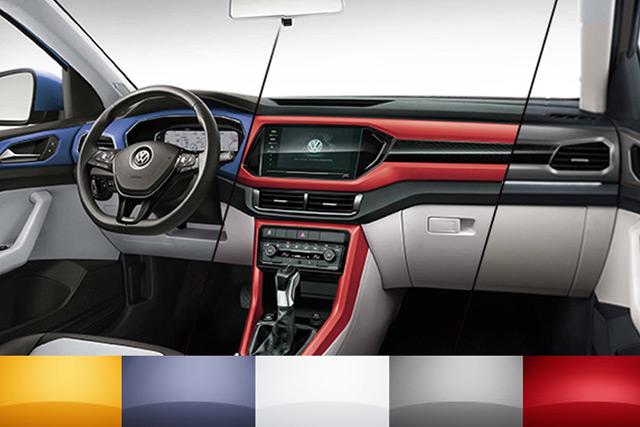 新车|多种颜色可选 上汽大众T-Cross内饰官图