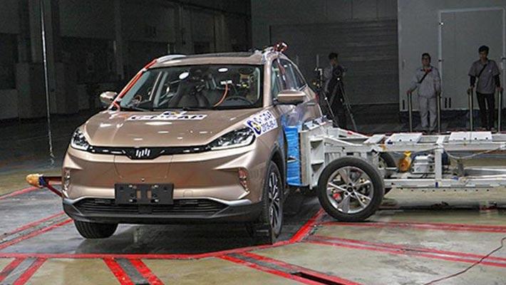 谁说新能源车不安全?这4款碰撞测试获五星