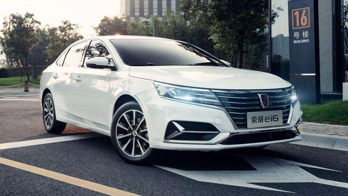 荣威Ei6纯电动轿车曝光 续航600km一季度上市