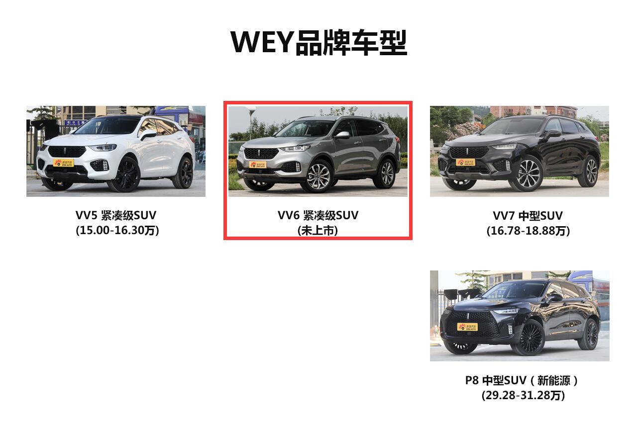 实拍WEY VV6 配置抢眼/首搭四驱系统