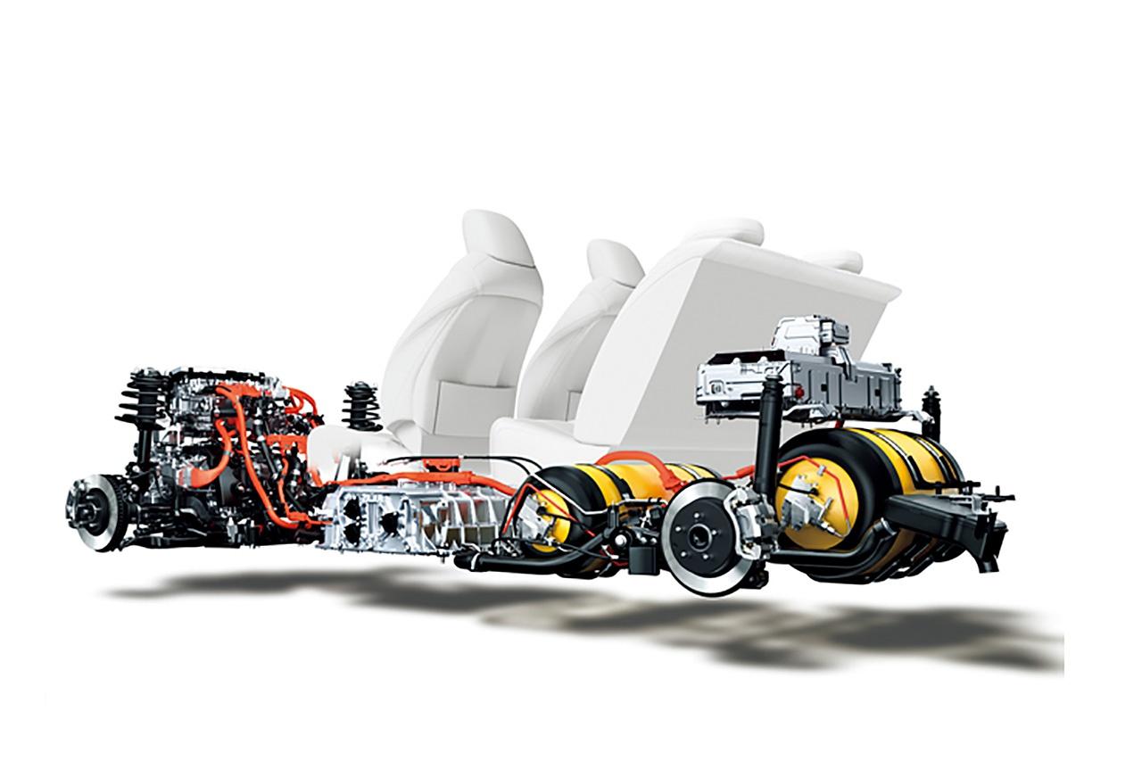 丰田第一代Mirai氢燃料电池结构