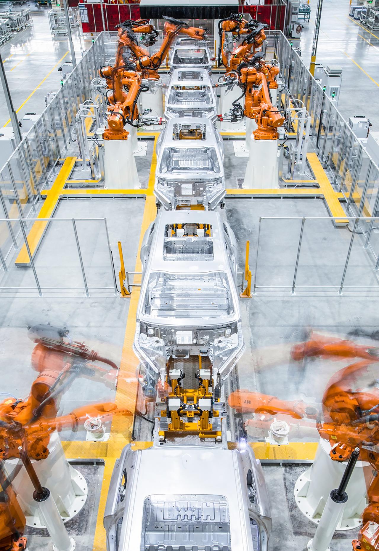 全铝白车身生产线