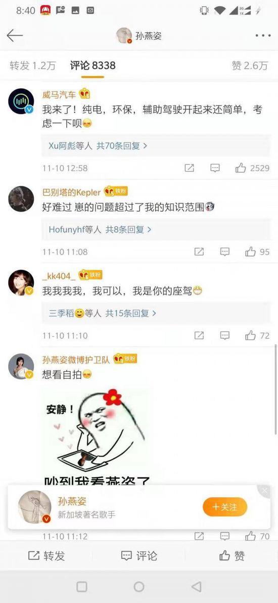 孙燕姿发博求推荐新能源汽车 多家车企老总纷纷亲自上阵推销