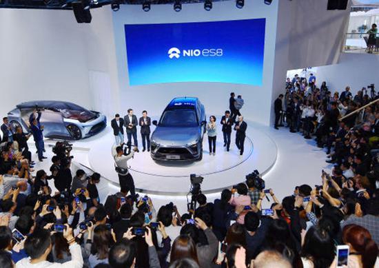蔚来携11辆车首秀中国 最新量产车ES8首发
