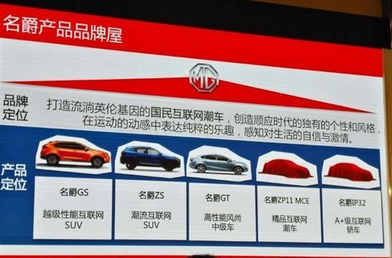 名爵下半年推3款新车 纯电动车型2018年上市