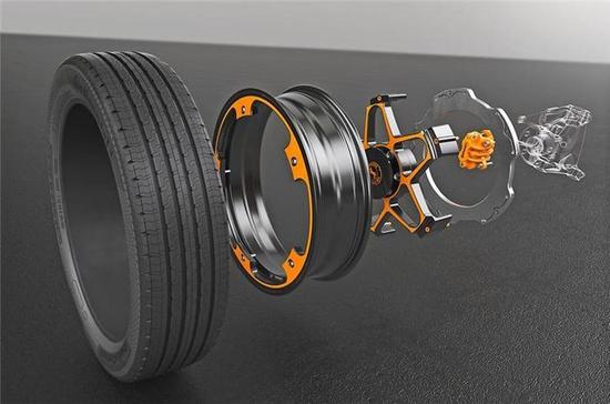 大陆研发首款电动车概念车轮 采用轻量化铝材