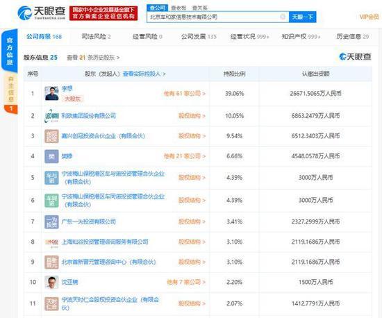 理想汽车注册资本降至约6.83亿人民币,多位投资人退出