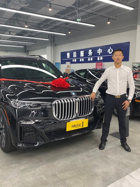 19款宝马X7欧五排放标准天津港报