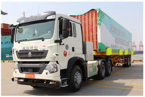 中国重汽无人驾驶电动卡车开启港口试运营