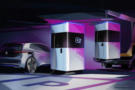 大众推新型360千瓦时移动充电站 可供15辆电动车充电