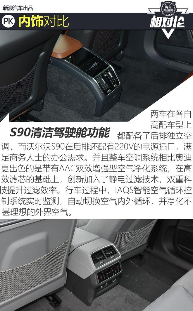 中大型车擂台战 沃尔沃S90对比奥迪A6L
