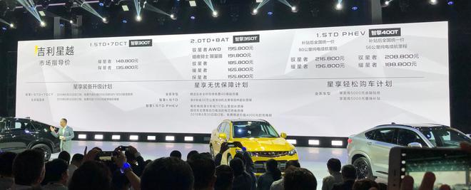 吉利星越正式上市 售13.58-21.68万元