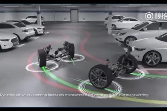 视频:全新奥迪A6:全轮转向,转向角相互独立地调节