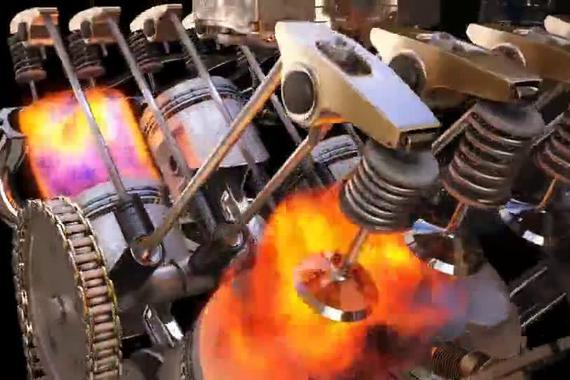 动态解析 V6发动机的工作原理