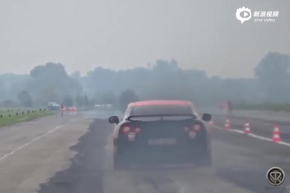 赛道上的暴力猛兽 1400马力的战神GT-R