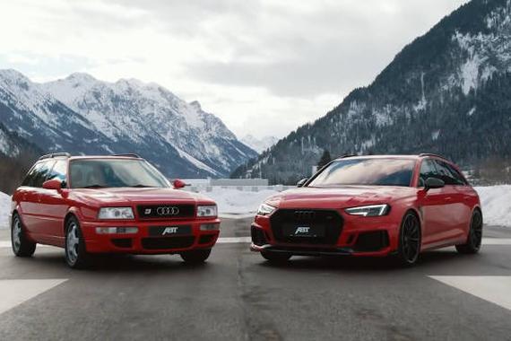 奥迪初代B级性能车 RS2 vs RS4 Avant