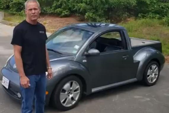视频:甲壳虫变皮卡 还是这么萌!