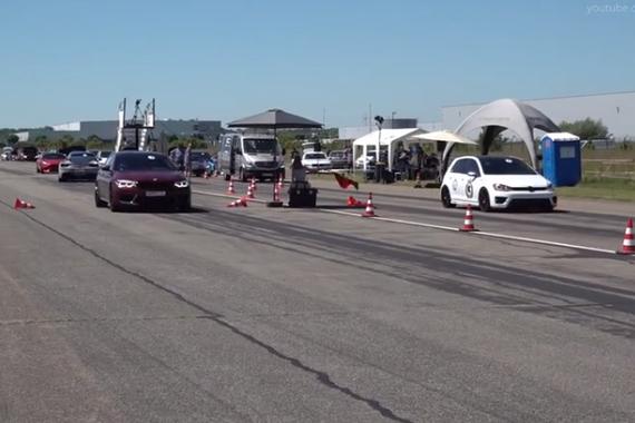 视频:结局意外!高尔夫7R挑战宝马M5 F90、 M3 F80