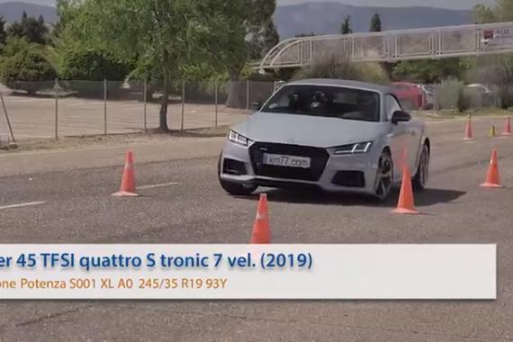 视频:最佳成绩76km/h 奥迪TT Roadster麋鹿测试
