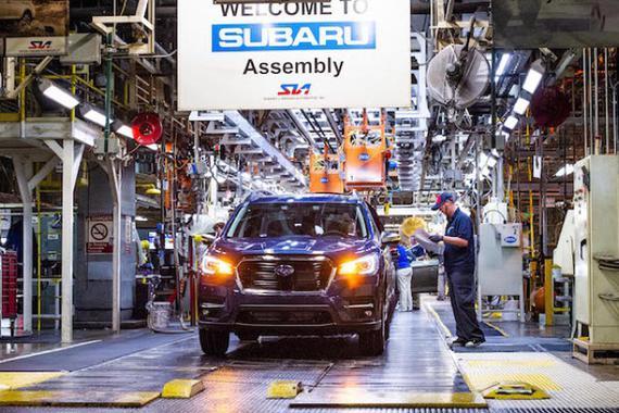 海外疫情 斯巴鲁暂停日本国内生产 并延长美国工厂关闭