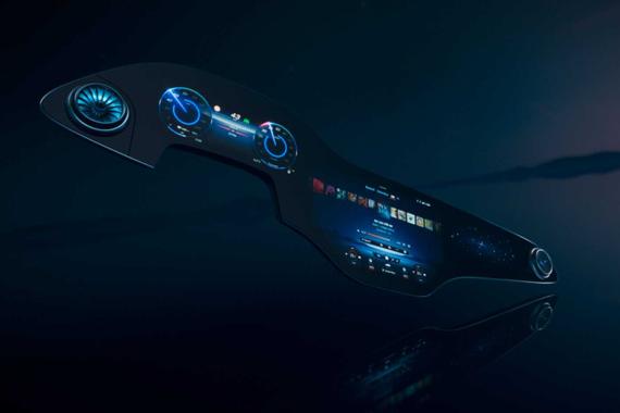 MBUX进化产物 奔驰MBUX Hyperscreen全球首发