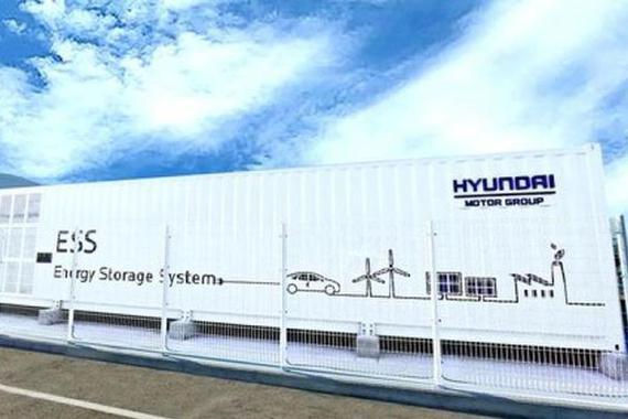 现代汽车利用废弃动力电池用作太阳能储能系统