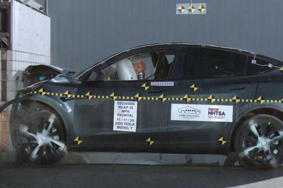 特斯拉Model Y获美国NHTSA碰撞测试最高评分