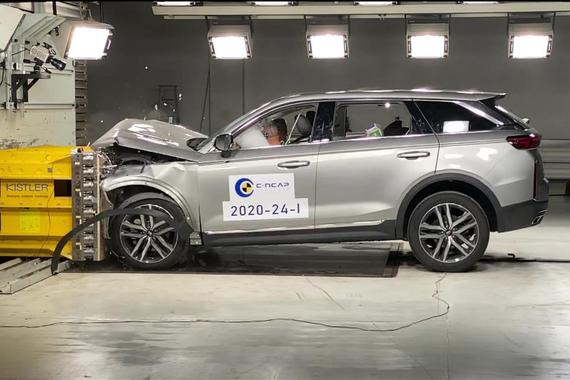 奔腾T99完成C-NCAP正面100%刚性壁碰撞试验 四门均可正常开启