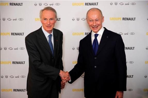 雷诺新任董事长塞纳德和雷诺新任CEO博洛雷