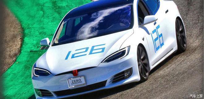 特斯拉Model S在拉古纳塞卡(Laguna Seca)赛道