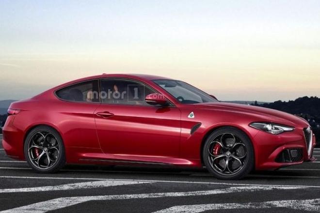 阿尔法罗密欧Giulia QV双门轿跑假想图