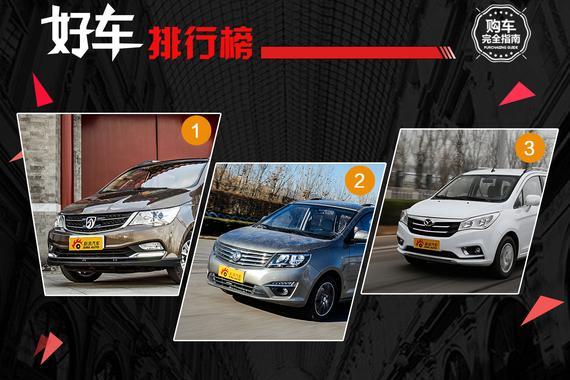 好车排行榜 十万内7座MPV谁最能装?