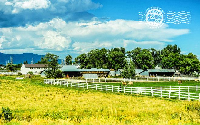 犹他州平原上的农场