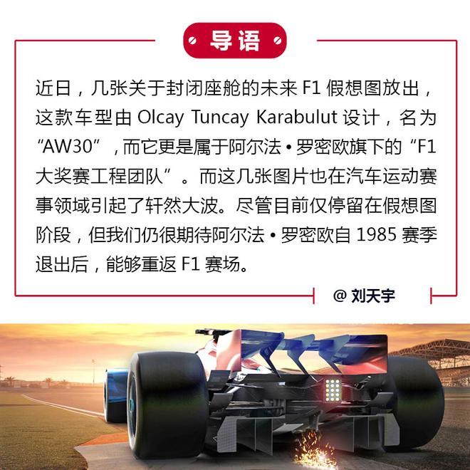 科幻片么?阿尔法·罗密欧F1赛车假想图