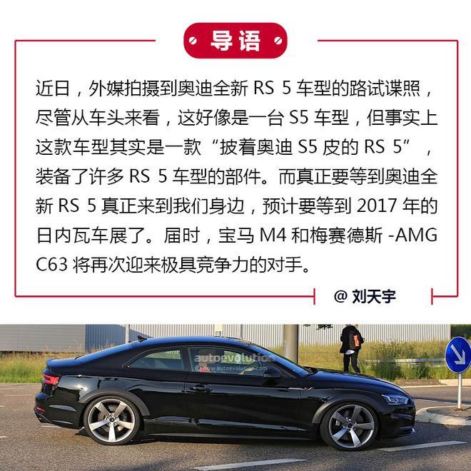M4/C63别着急 奥迪全新RS 5明年来袭