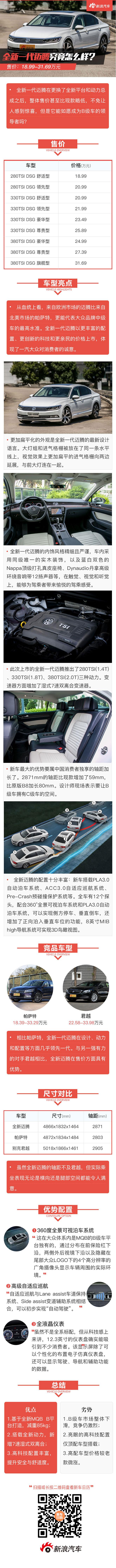 解码新车:全新迈腾能否成为B级车领导者?