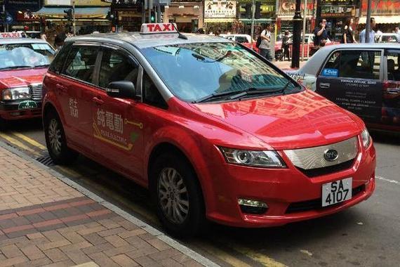 香港停用国产比亚迪e6电动出租车