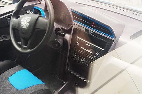 蓝黑双色搭配 北汽新能源C10内饰曝光