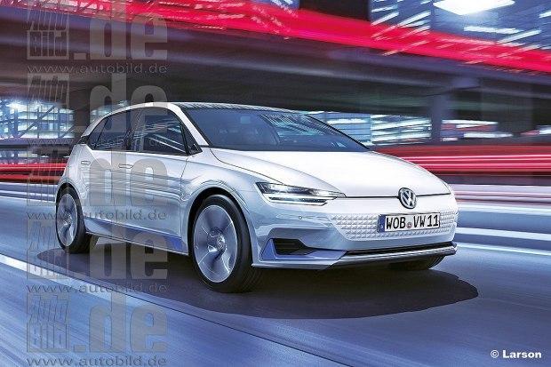 神似高尔夫 大众全新纯电动汽车将于巴黎车展亮相-大众全新纯电动汽高清图片