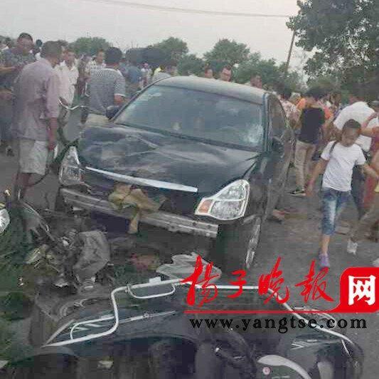 江苏扬州一轿车连撞10人 肇事司机被刑拘