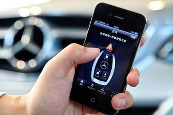微信与奔驰达成合作 车载系统也能玩微信