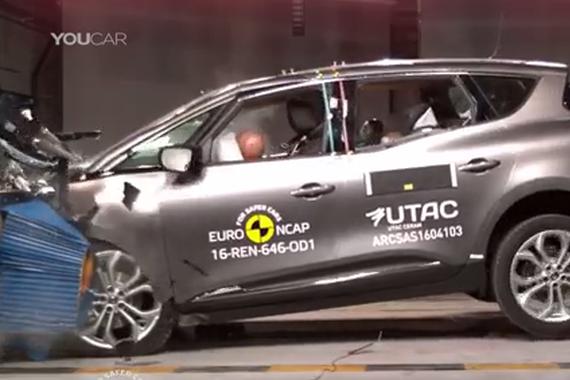 视频:2016款雷诺风景碰撞测试