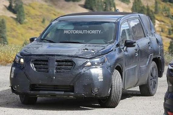 斯巴鲁全新7座SUV谍照曝光 或2017年发布