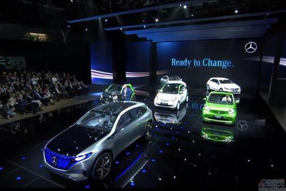 奔驰EQ概念车亮相巴黎车展 2019年量产