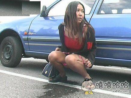每日趣图:有车挡着?原来你是这样的妹子