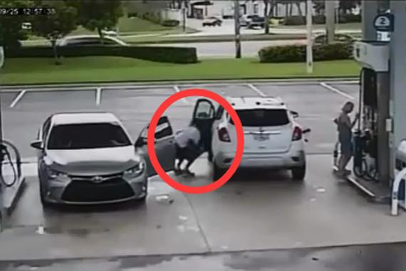 视频:加油站的小偷!司机可长点心吧