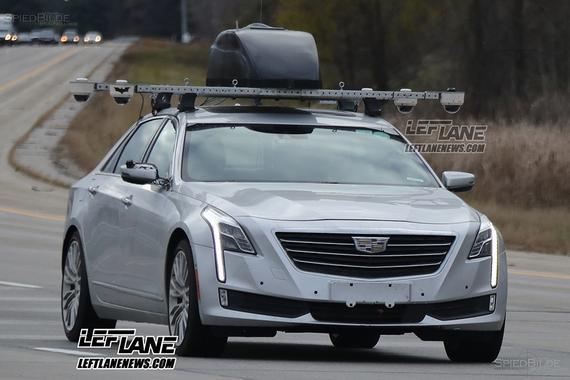 2017年发布 凯迪拉克CT6自动驾驶车谍照