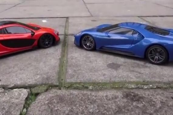 视频:福特GT vs迈凯伦P1 谁会赢?
