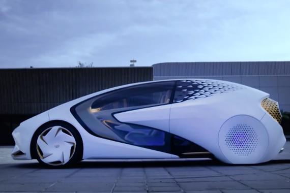 视频:丰田概念车 实现完全自动驾驶